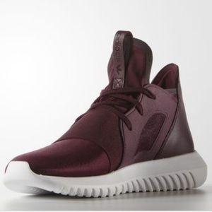 adidas Shoes - Adidas Tubular Defiant - High-Top Trainers -Maroon